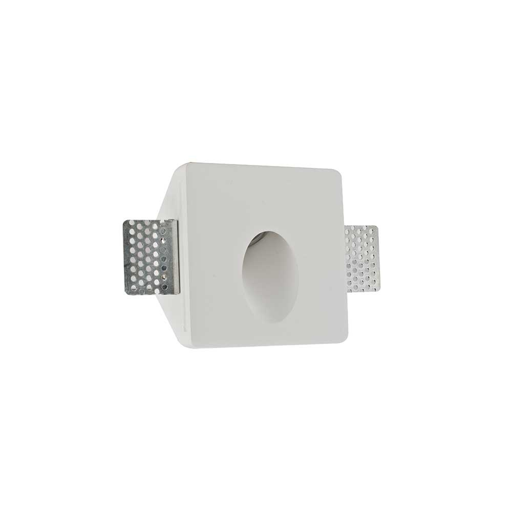 Artdelight Wandlamp Gips trimless stuc vierkant wit
