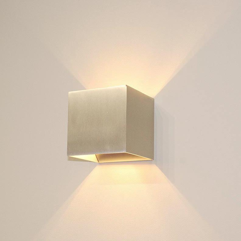 Artdelight Wandlamp Gymm 10x10 cm excl. G9 aluminium