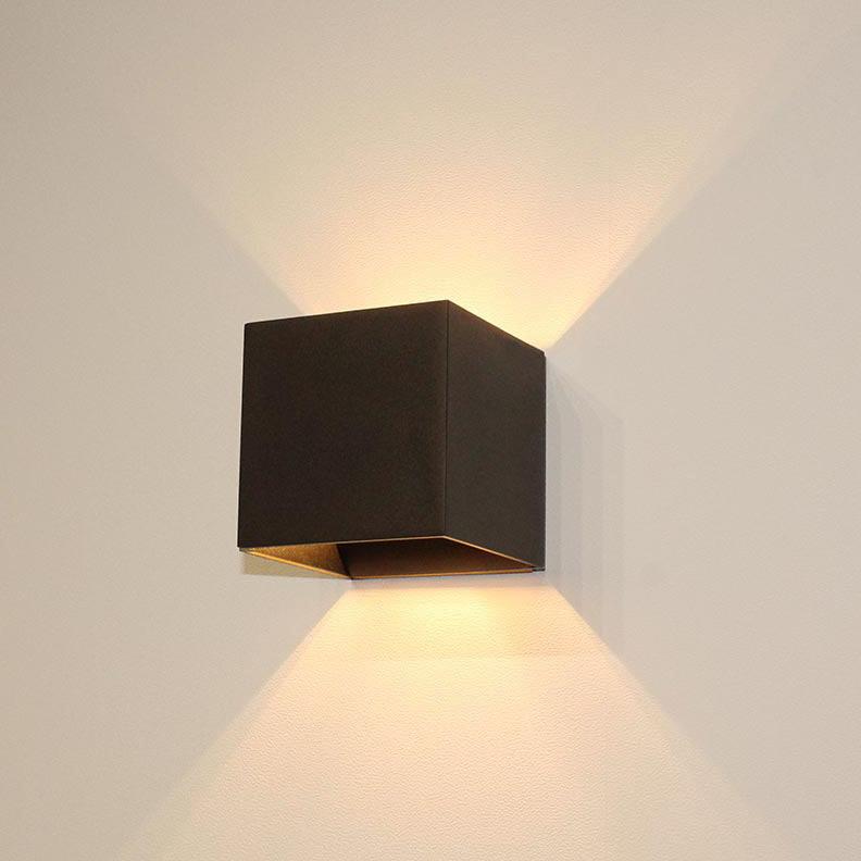 Artdelight Wandlamp Gymm 10x10 cm excl. G9 zwart