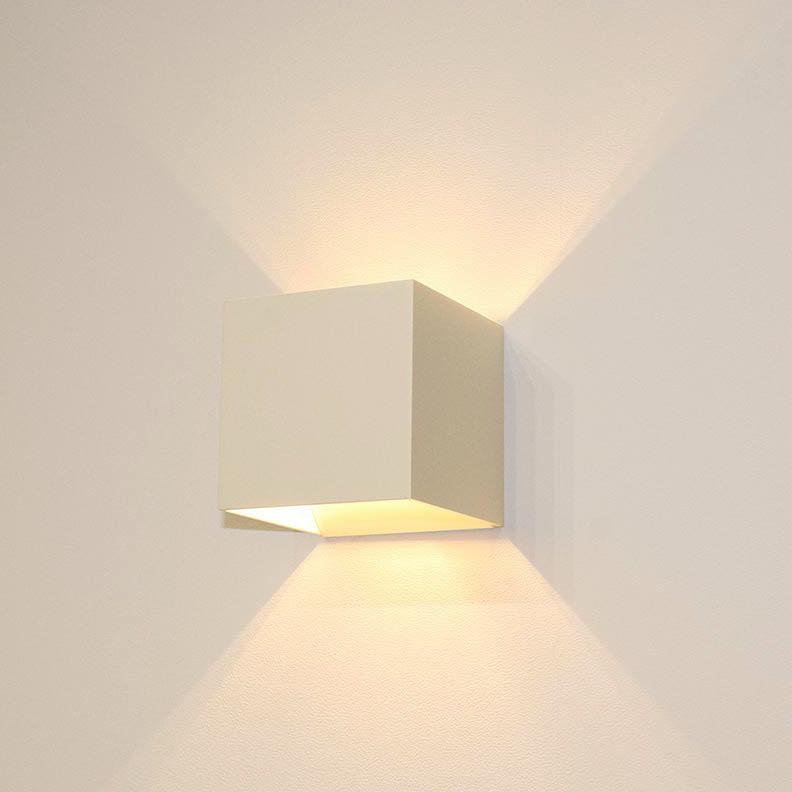 Artdelight Wandlamp Gymm 10x10 cm excl. G9 wit