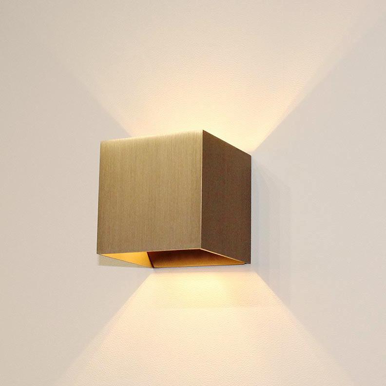 Artdelight Wandlamp Gymm 10x10 cm excl. G9 licht brons
