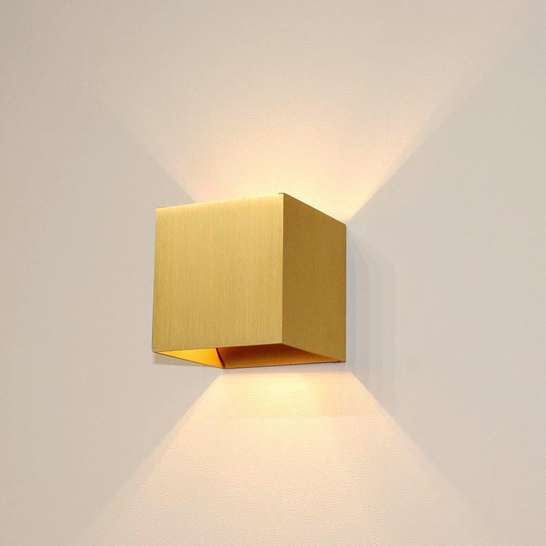 Artdelight Wandlamp Gymm 10x10 cm excl. G9 mat goud