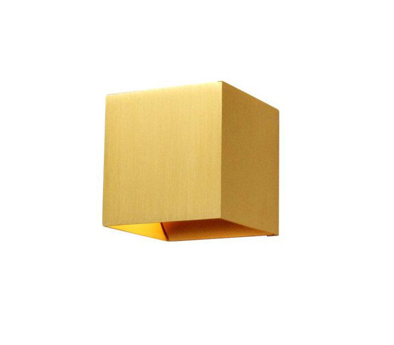 Wandlamp Gymm 10x10 cm excl. G9 mat goud