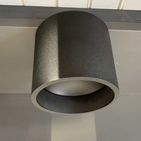 Plafondlamp Orleans  Ø 11 cm H 10 cm zwart