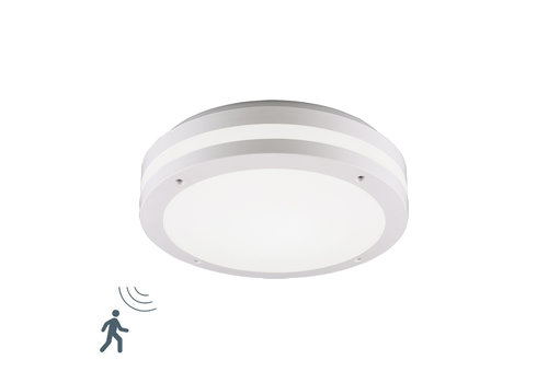 Trio Leuchten Plafondlamp Piave Sensor Ø 30 cm IP54 wit