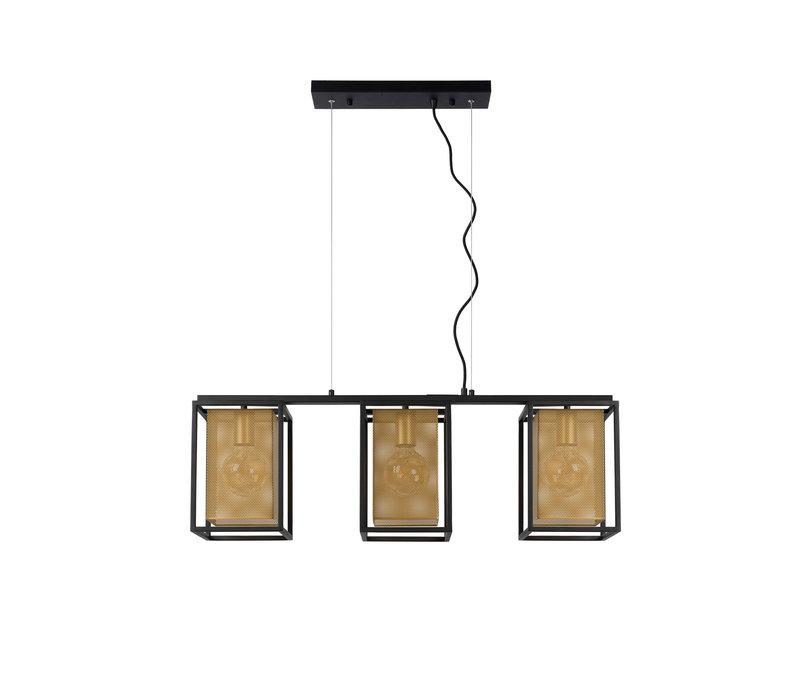 SANSA Hanglamp 3xE27/40W Zwart / goud