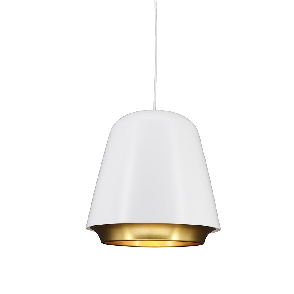 Artdelight Hanglamp Santiago Ø 35 cm wit-goud