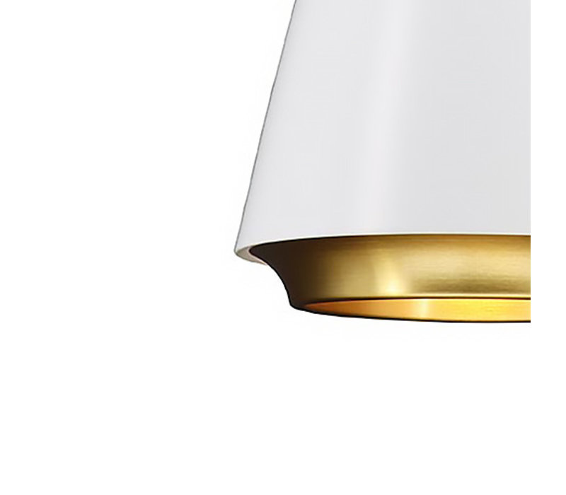 Hanglamp Santiago Ø 35 cm wit-goud