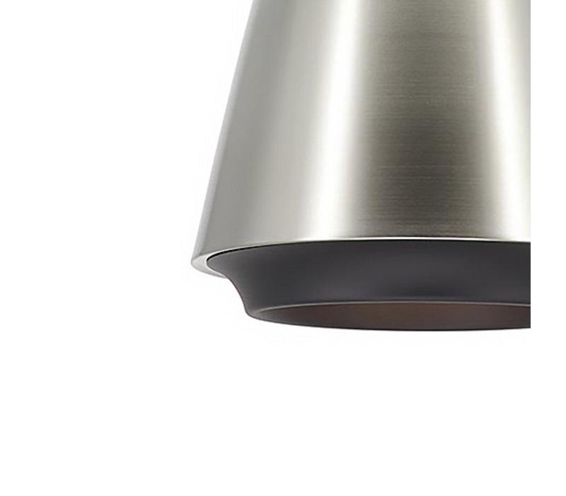 Hanglamp Santiago Ø 35 cm mat chroom-zwart