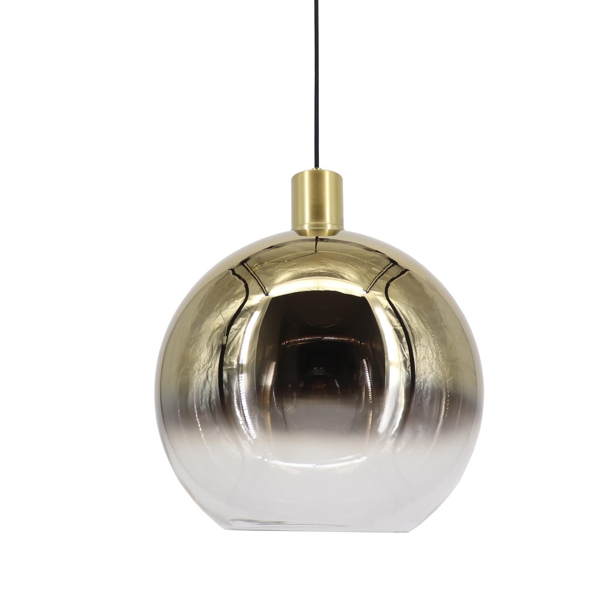 Artdelight Hanglamp Rosario Ø 30 cm glas goud-helder