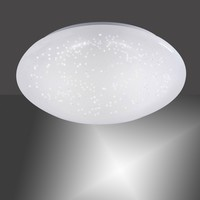 Plafondlamp Skyler Sensor Ø 35 cm IP44 wit