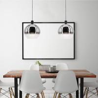 Hanglamp Rosario Ø 30 cm glas chroom-helder