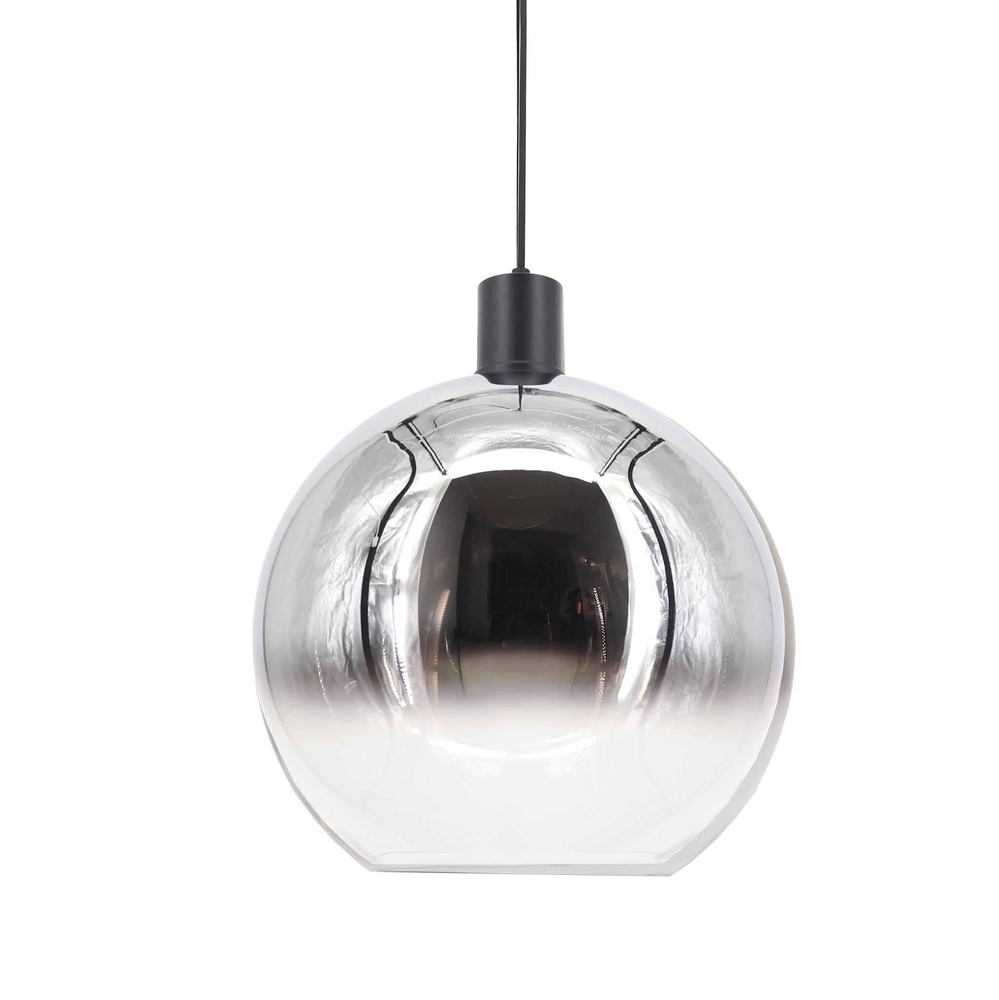 Artdelight Hanglamp Rosario Ø 30 cm glas chroom-helder