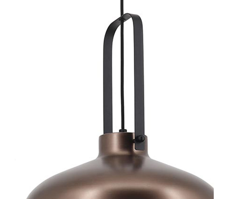Hanglamp Mendoza Ø 37,5 cm bruin-zwart