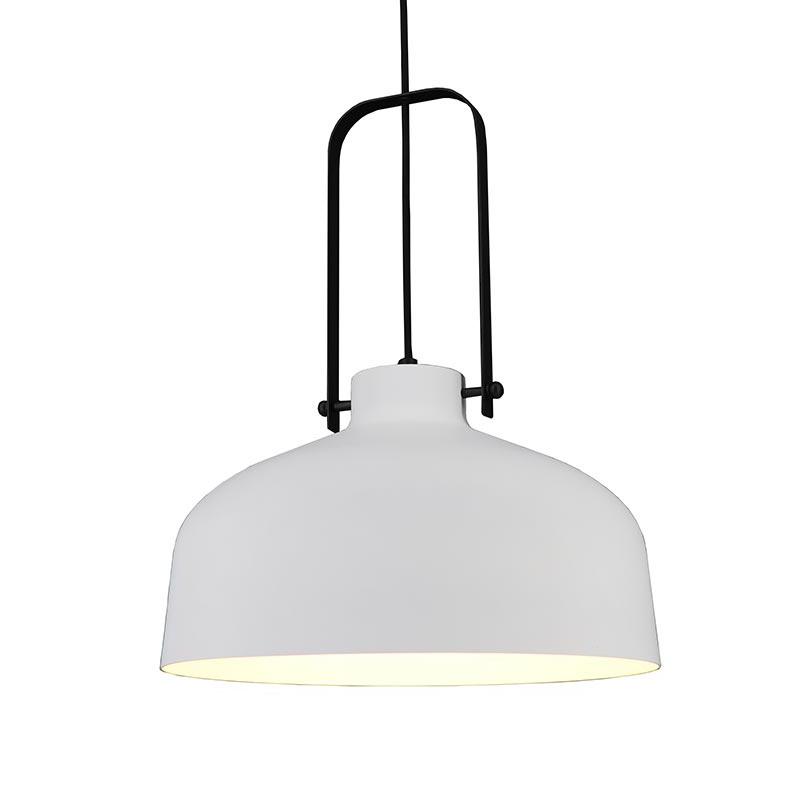 Artdelight Hanglamp Mendoza Ø 37,5 cm wit-zwart