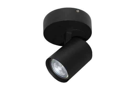 Artdelight Spot Vivaro 1 lichts Ø 10 cm zwart