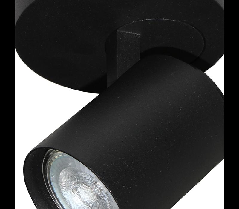 Spot Vivaro 2 lichts rond Ø 17 cm zwart