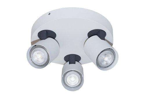 Artdelight Spot Vivaro 3 lichts rond Ø 21 cm wit