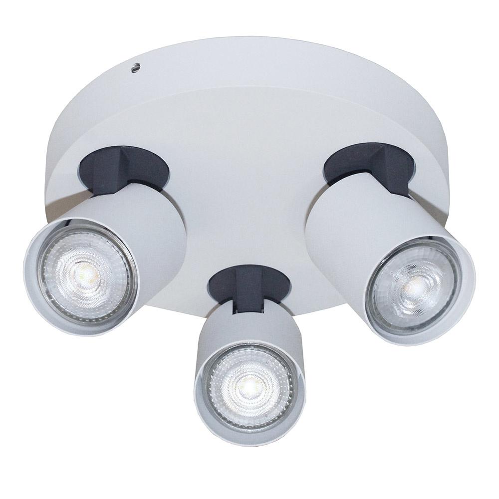 Artdelight Spot Vivaro 3 lichts rond � 21 cm wit