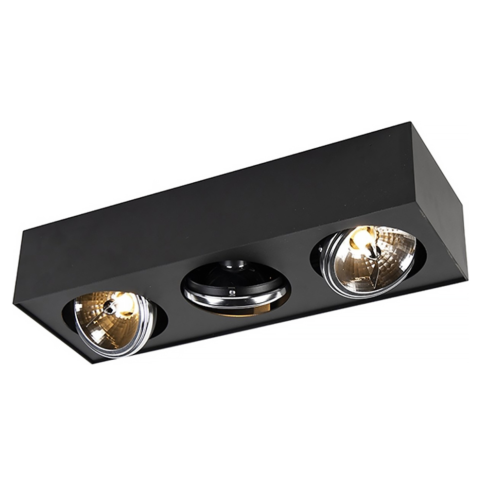 Qazqa Spot Kaya 3 lichts G9 zwart