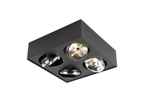 Qazqa Spot Kaya 4 lichts G9 zwart