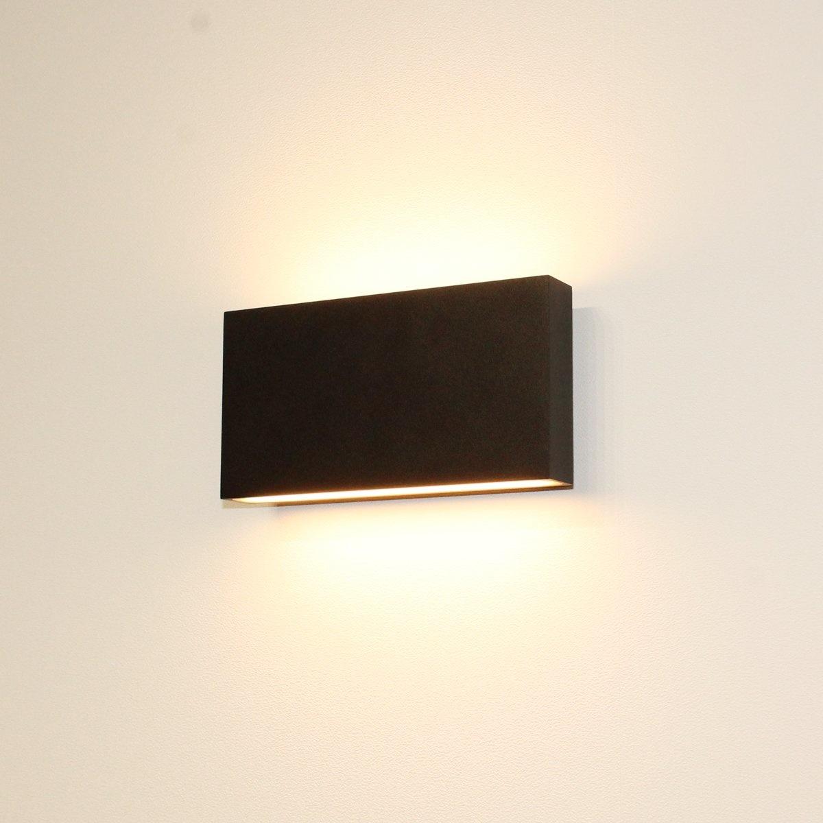 Artdelight Wandlamp Box L 17 cm H 9 cm zwart