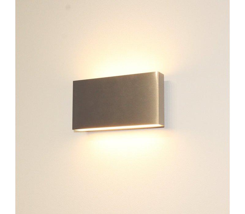 Wandlamp Box L 17 cm H 9 cm mat chroom