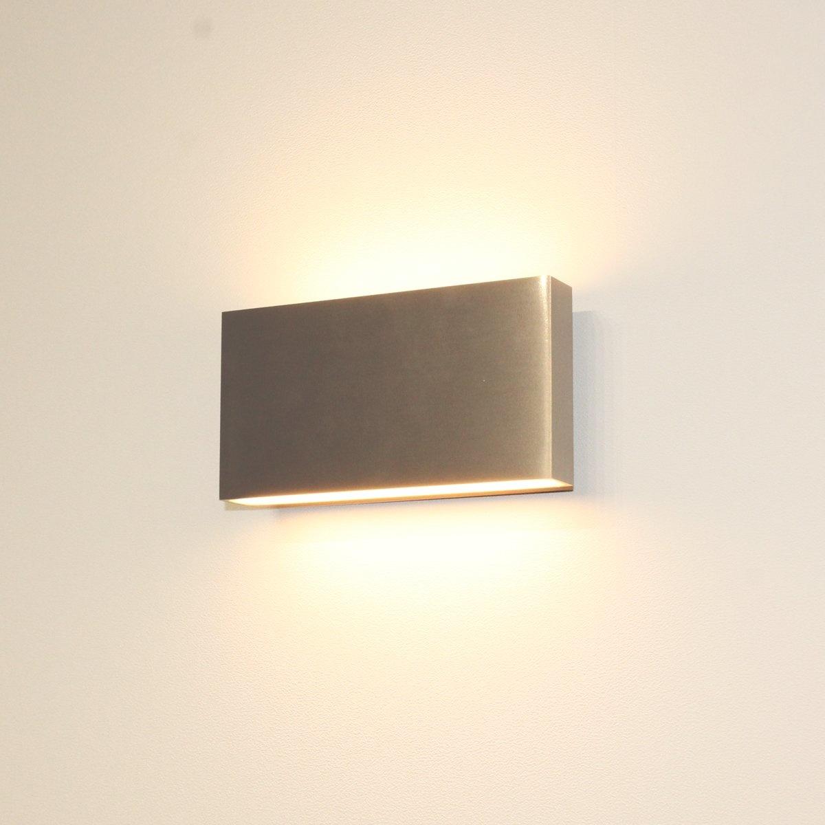 Artdelight Wandlamp Box L 17 cm H 9 cm mat chroom