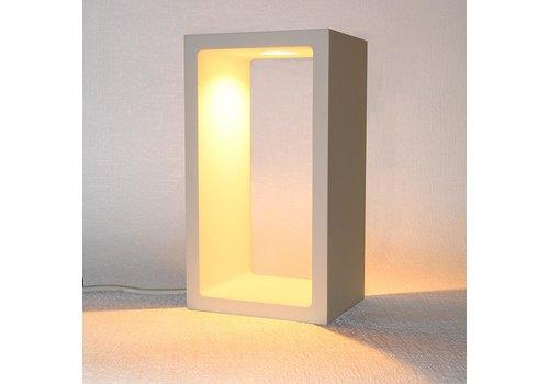 Artdelight Tafellamp Corrridor H 18 cm B 10 cm wit
