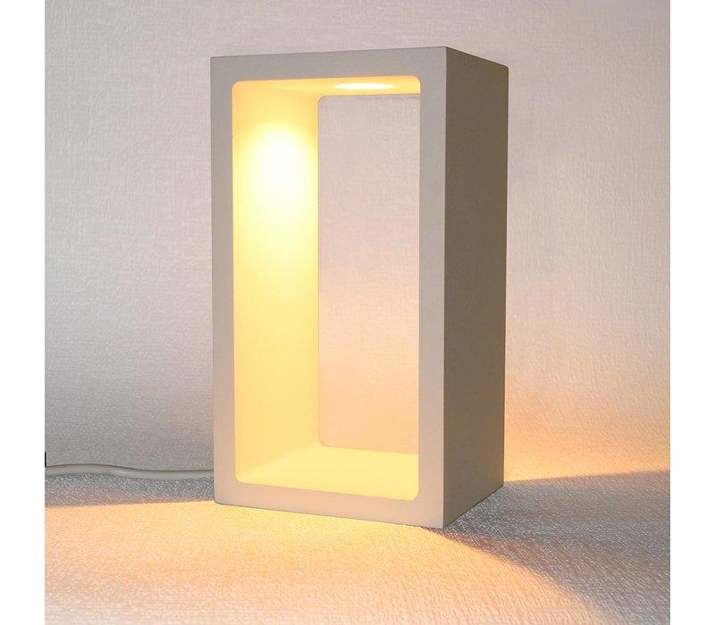 Tafellamp Corrridor H 18 cm B 10 cm wit