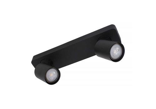Artdelight Spot Vivaro 2 lichts balk L 32 cm zwart