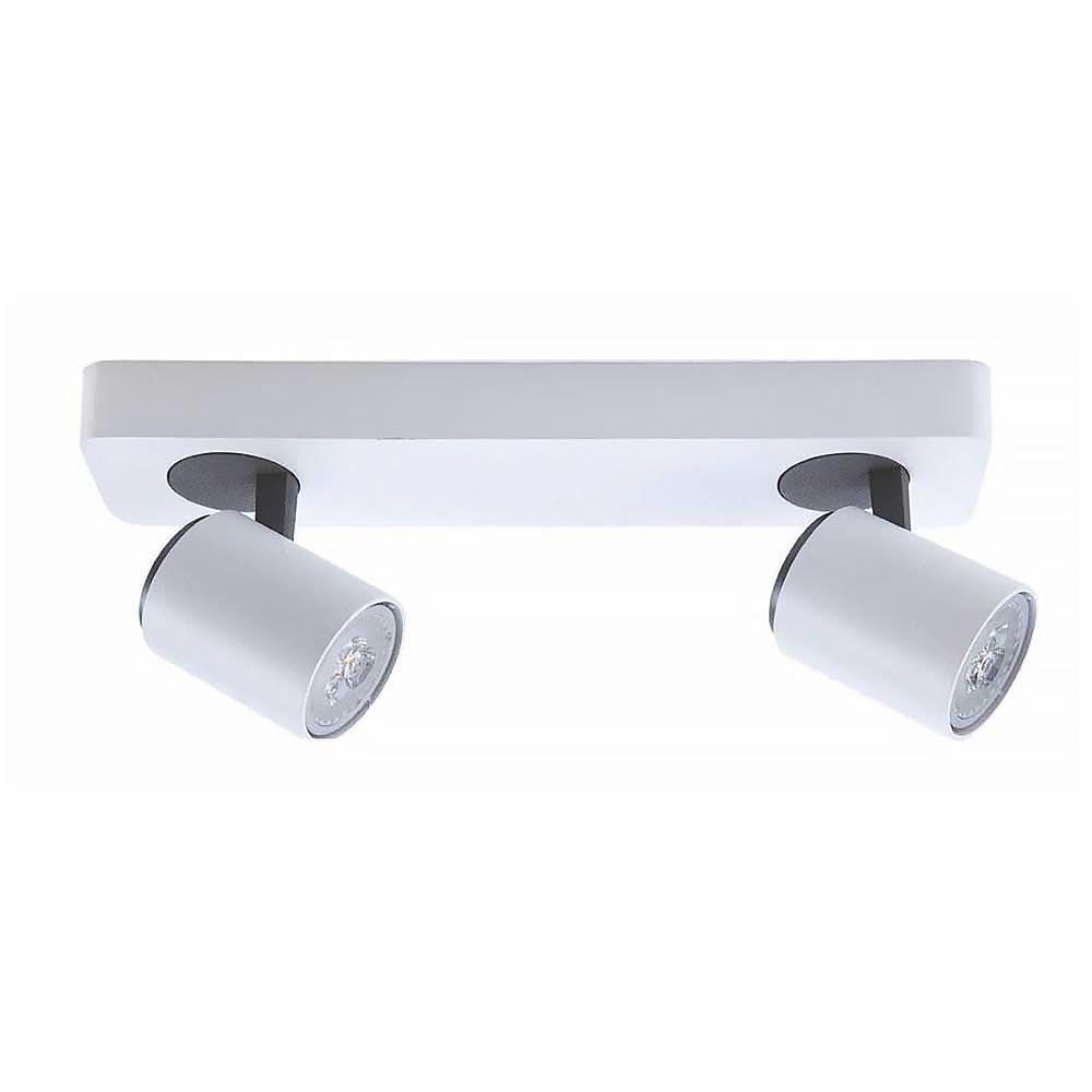 Artdelight Spot Vivaro 2 lichts balk L 32 cm wit