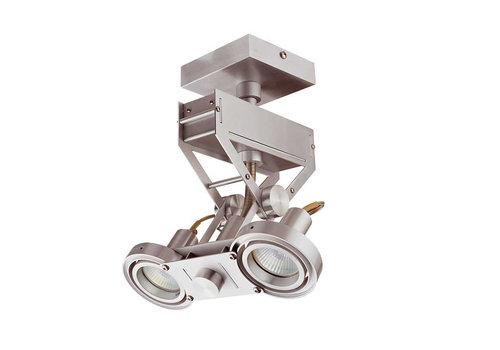 Artdelight Spot Koln 2 lichts H 28 cm aluminium
