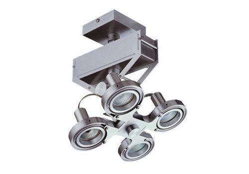Artdelight Spot Koln 4 lichts H 28 cm aluminium