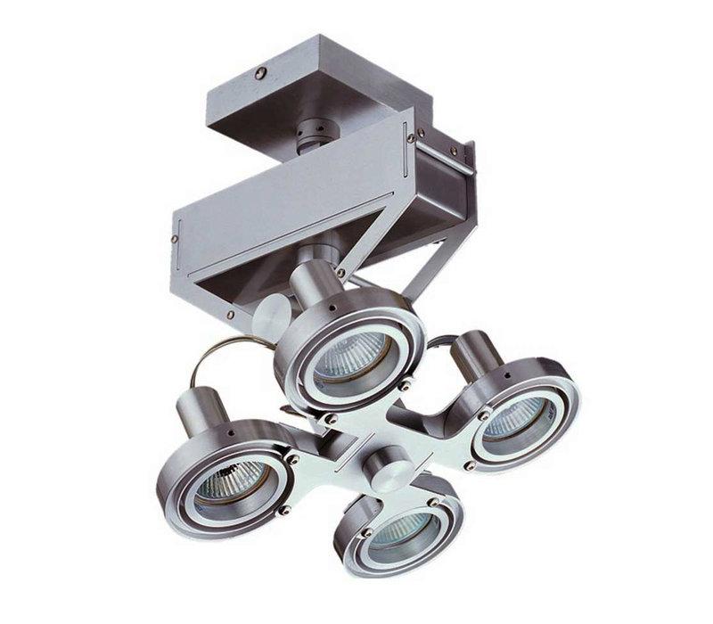Spot Koln 4 lichts H 28 cm aluminium