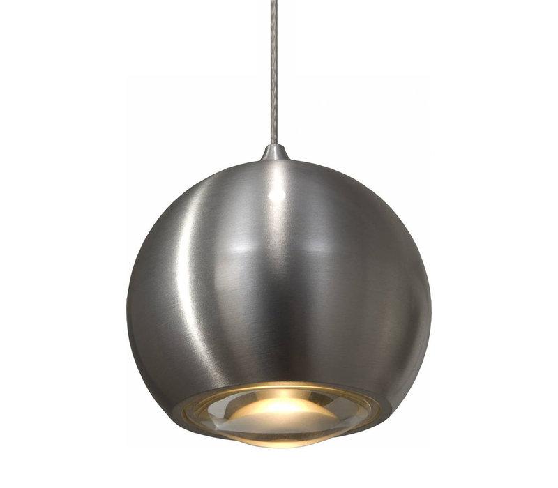 Hanglamp Denver 1 lichts Ø 10 cm mat chroom