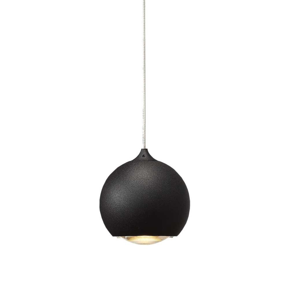 Artdelight Hanglamp Denver 1 lichts Ø 10 cm zwart