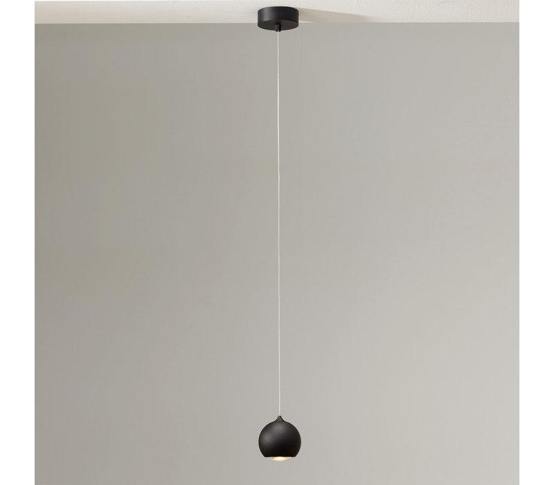 Hanglamp Denver 1 lichts Ø 10 cm zwart