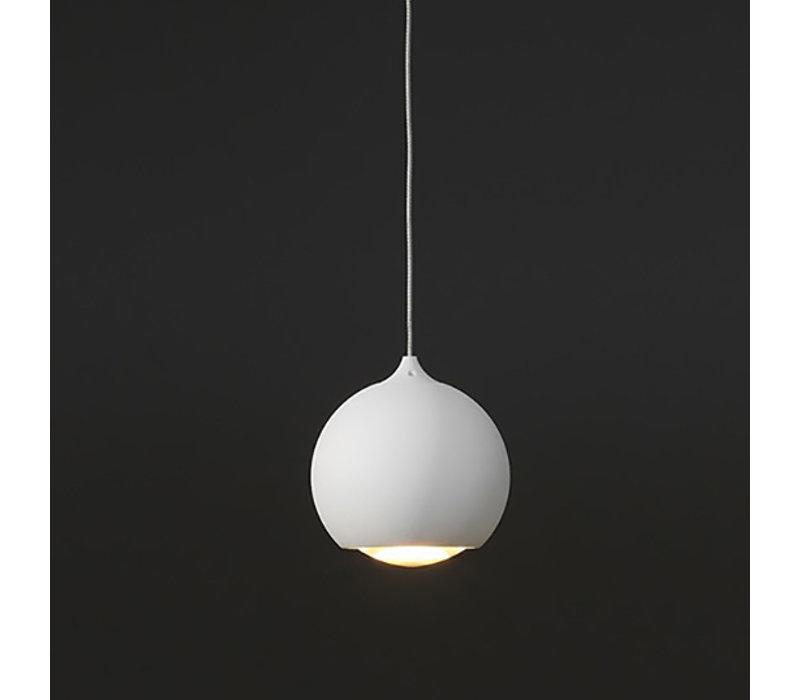 Hanglamp Denver 1 lichts Ø 10 cm wit