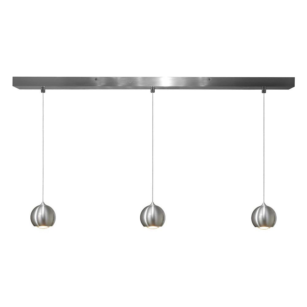 Artdelight Hanglamp Denver 3 lichts Ø 10 cm L 100 cm mat chroom