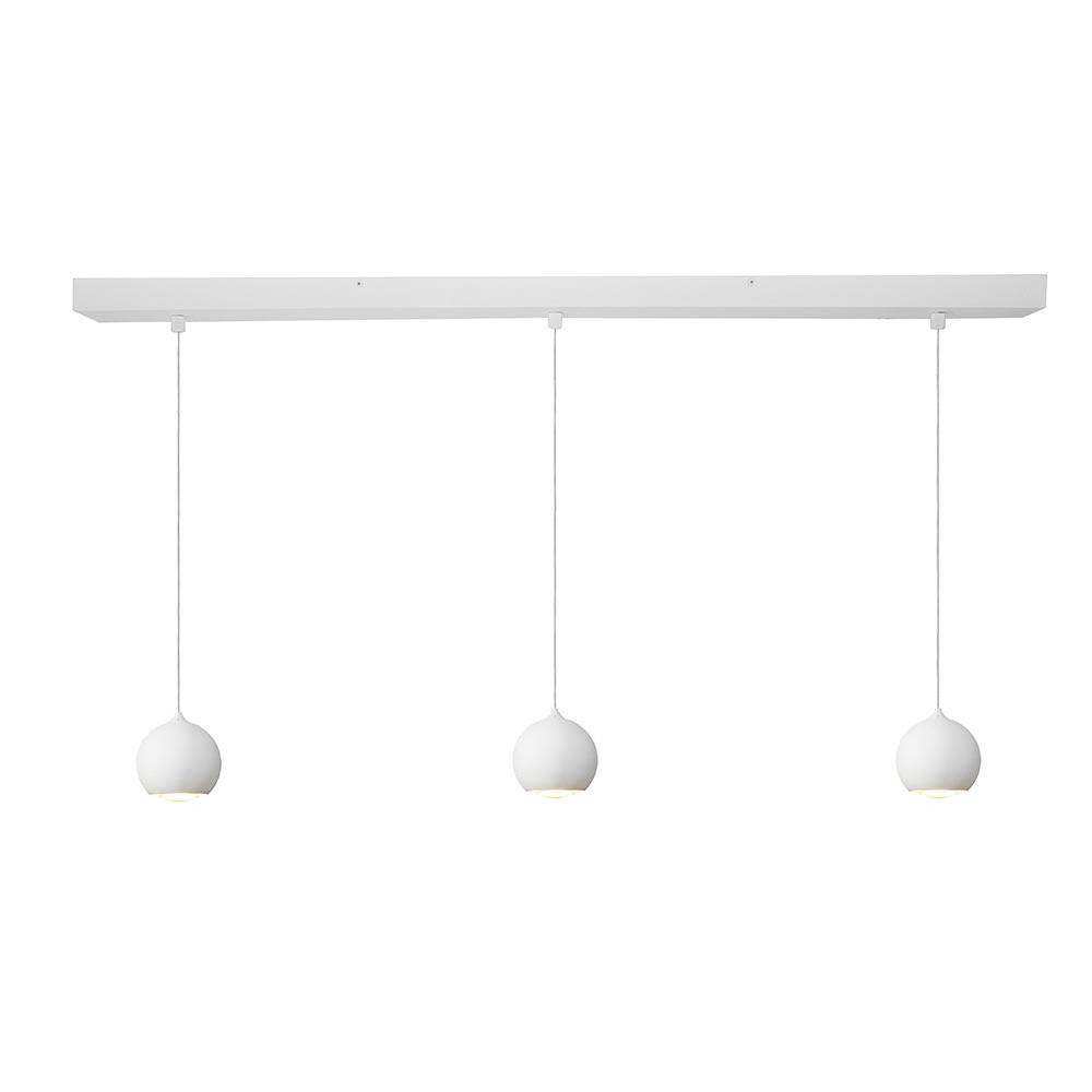 Artdelight Hanglamp Denver 3 lichts Ø 10 cm L 100 cm wit
