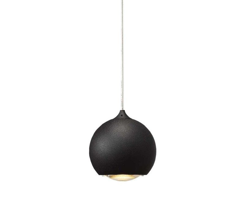 Hanglamp Denver 3 lichts Ø 10 cm L 100 cm zwart