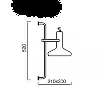 Wandlamp Vectro H 52 cm zwart