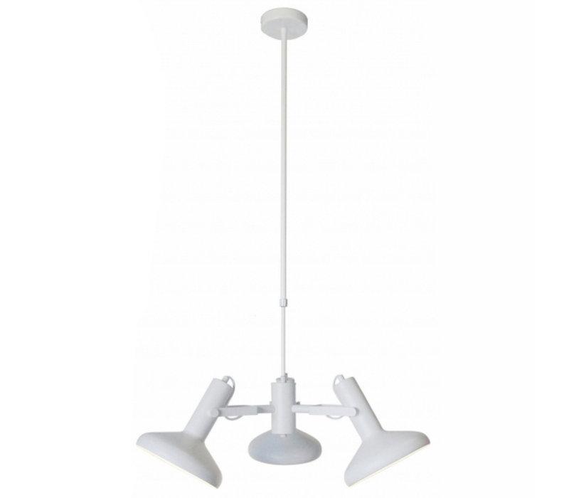 Hanglamp Vectro 3 lichts Ø 55 cm wit