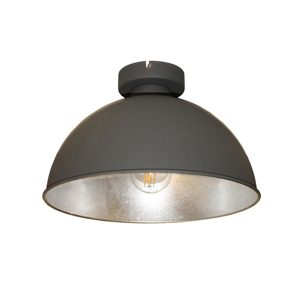 Artdelight Plafondlamp Curve Ø 31 cm grijs-zilver