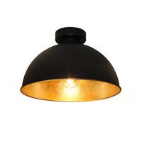 Plafondlamp Curve Ø 31 cm zwart-goud