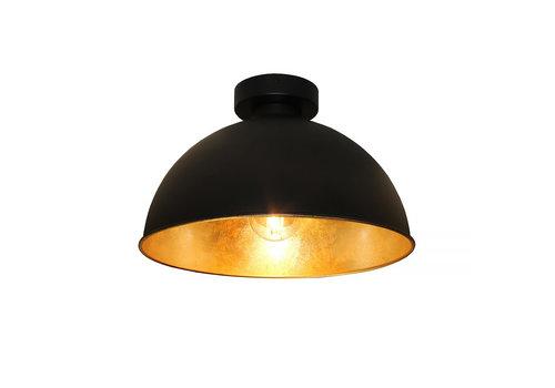 Artdelight Plafondlamp Curve Ø 31 cm zwart-goud
