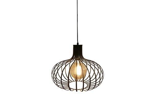 Artdelight Hanglamp Lauren Ø 38 cm zwart