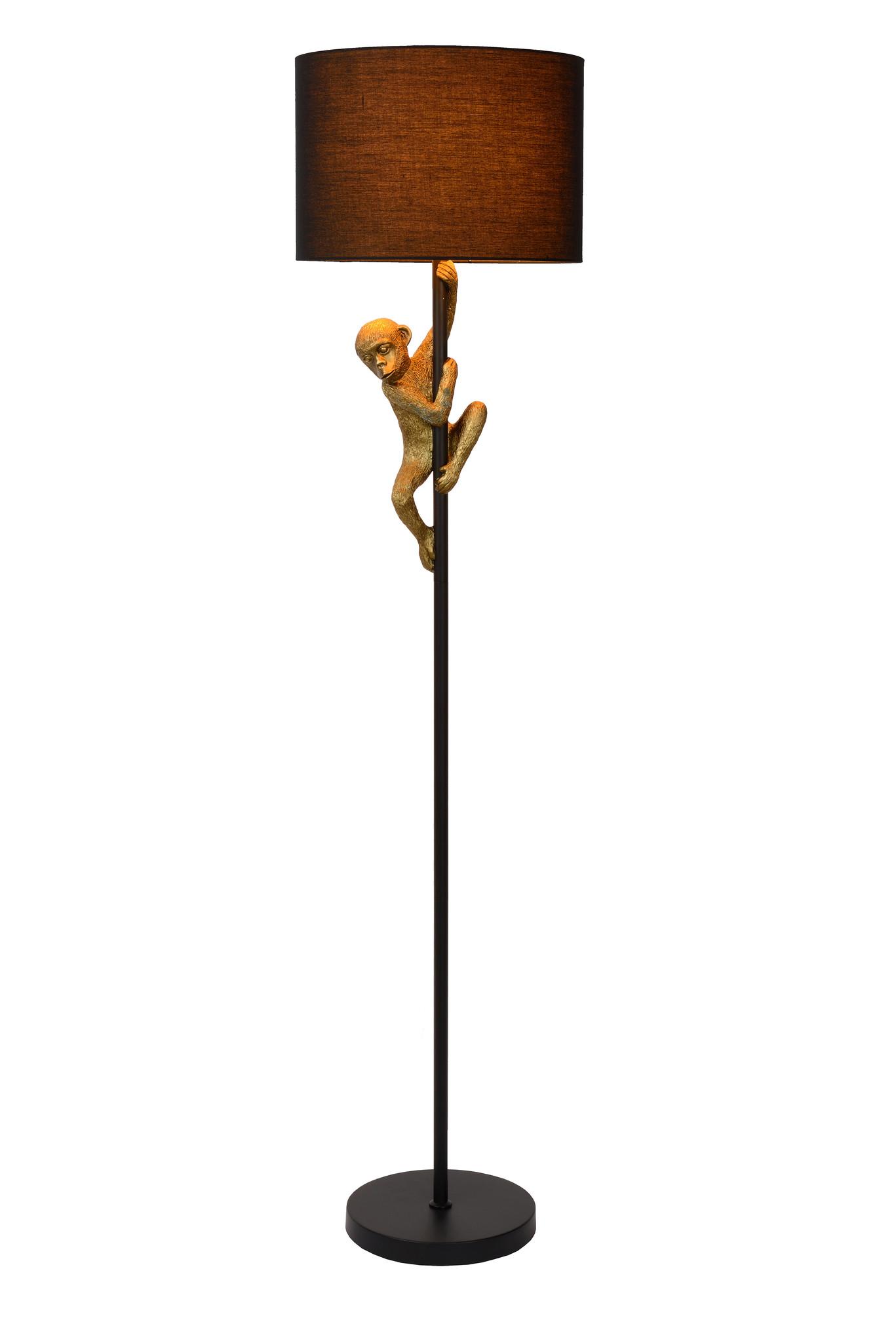 Lucide EXTRAVAG. Vloerlamp-Zwart-Ø35-1xE27-60W-Metaal