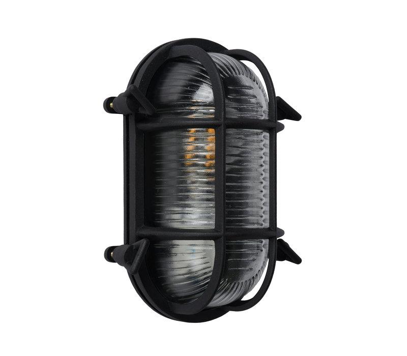 DUDLEY Buiten Wandlamp Ovaal IP65 E27/60W Zwart